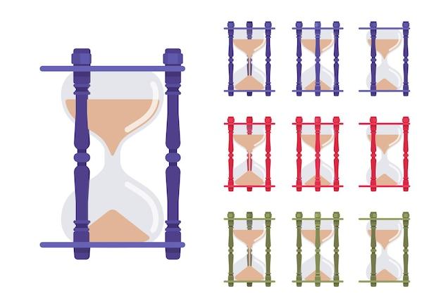 Sanduhr-uhr-set
