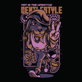 Sanfte art beagle mode illustration