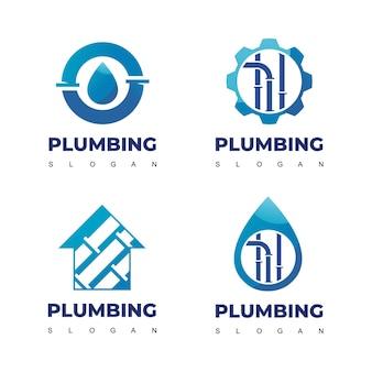 Sanitär-logo-set