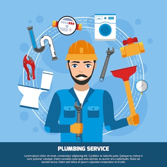 Sanitär-service-tools-hintergrund