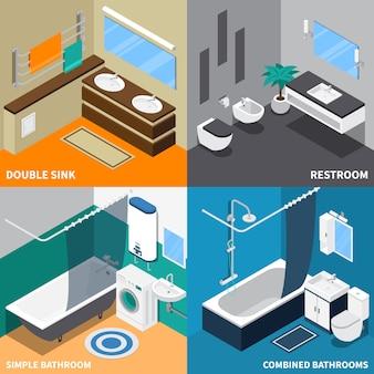 Sanitärtechnik-isometrisches konzept des entwurfes