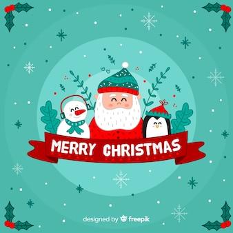 Sankt freunde weihnachten hintergrund