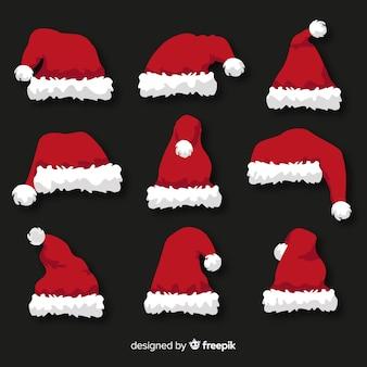 Sankt hutweihnachtssammlung im flachen design