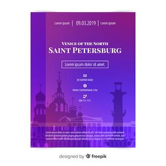 Sankt petersburg flyer vorlage
