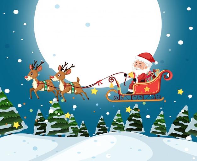 Sankt-pferdeschlittenweihnachtsschablone
