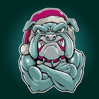 Santa bulldogge