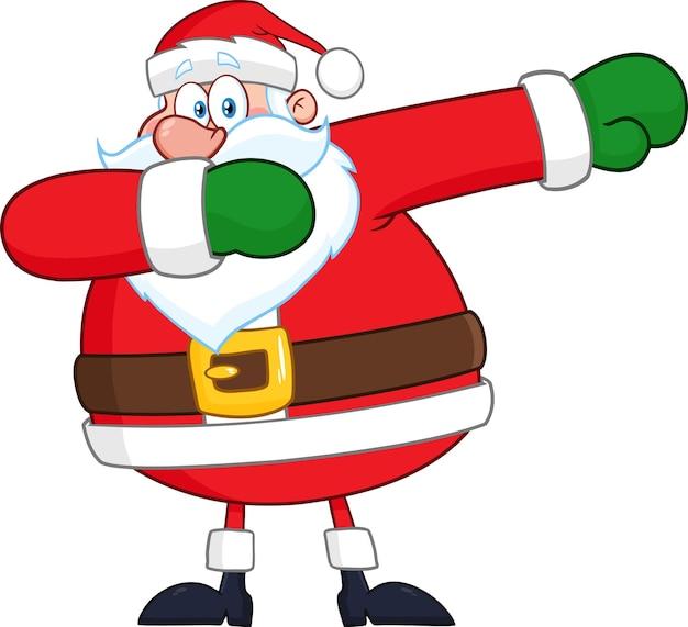 Santa claus cartoon character tupfen