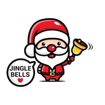 Santa claus designs läutet die glocke