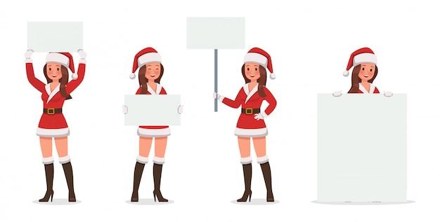 Santa claus frau zeichen