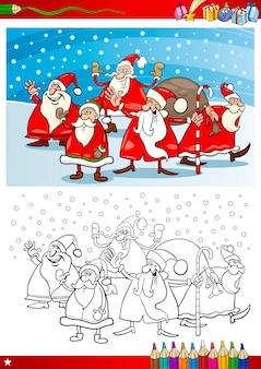 Santa claus-gruppe malvorlagen