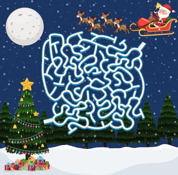 Santa claus labyrinth spiel vorlage