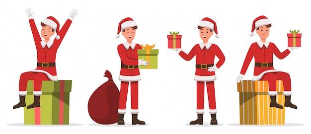 Santa claus mann zeichen