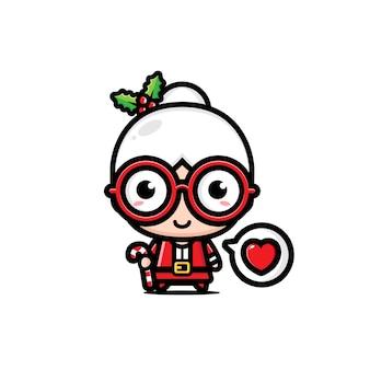 Santa claus niedlichen oma design