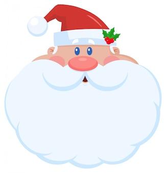 Santa claus-zeichentrickfilm-figur-gesichts-porträt