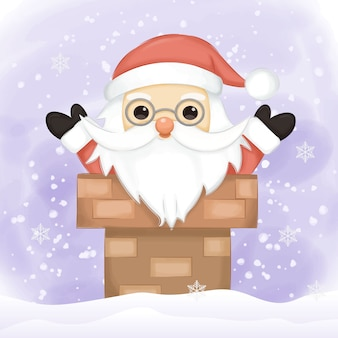 Santa illustration für weihnachtsdekoration
