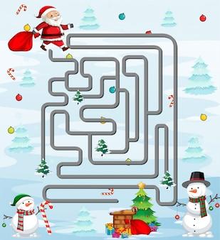 Santa in labyrinth spielvorlage