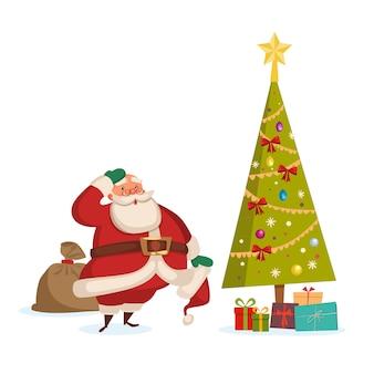 Santa liefert geschenke