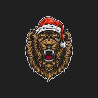 Santa lion maskottchen abbildung