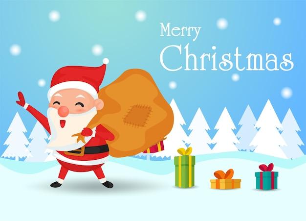 Santa mit alten geschenktüte