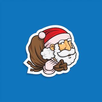 Santa mit einem sack geschenk