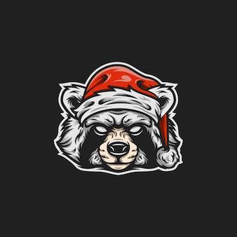 Santa racoon maskottchen abbildung