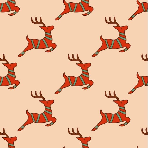 Santa rentier muster hintergrund social media post weihnachtsdekoration vektor illustration