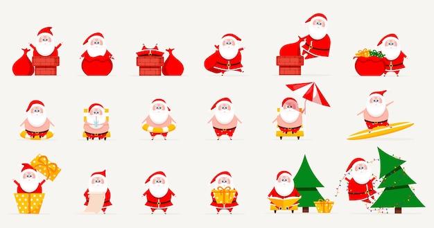 Santa set sammlung von weihnachten