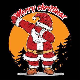 Santa tanzende tupferillustration