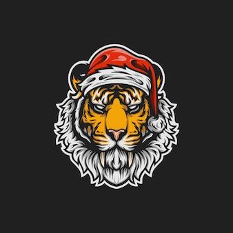 Santa tiger maskottchen abbildung