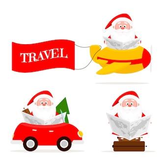 Santa und character set reise mit santa travel