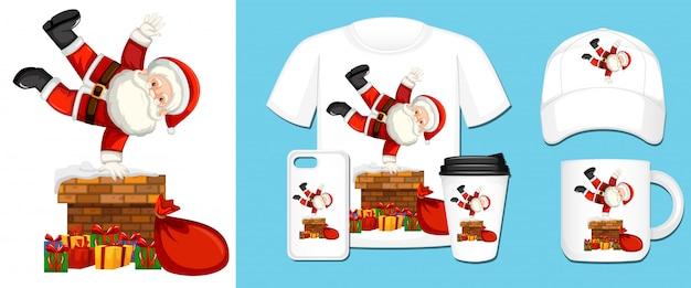 Santa verschiedene produktvorlagen