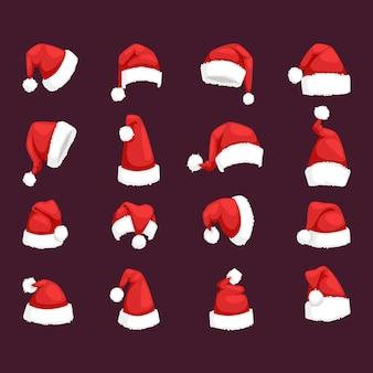 Santa weihnachtsmütze illustration.
