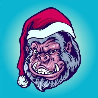 Santa yeti abbildung