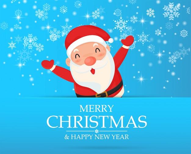 Santa zeichentrickfiguren feiern in weihnachten.