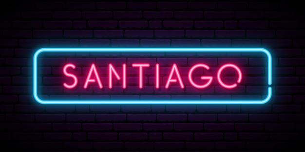 Santiago leuchtreklame.