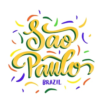 Sao paulo schriftzug