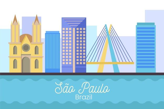 São paulo skyline illustration