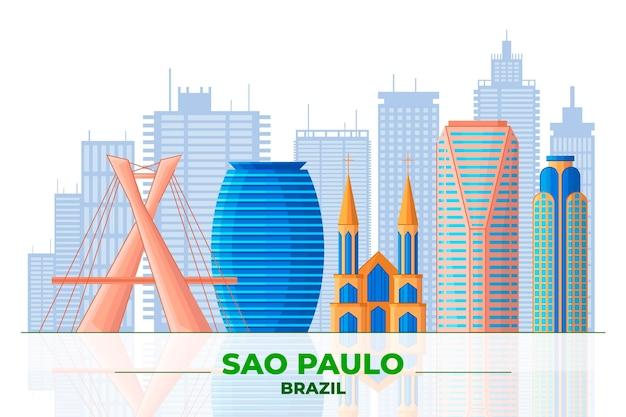 Sao paulo und verschiedene gebäude