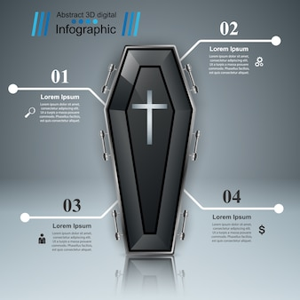 Sarg-symbol. geschäft infografiken.