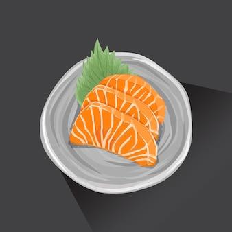 Sashimi ist japanisches essen. mit leckerem und frischem geschmack