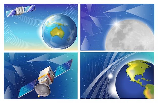 Satellitenszenen hintergrund
