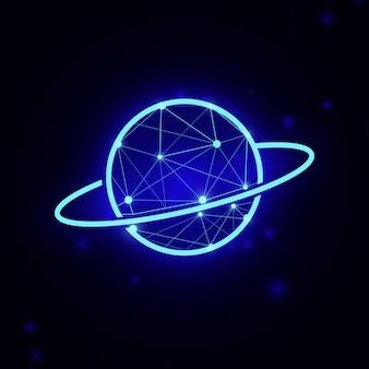 Saturn-planeten. planeten-symbol. vektor-illustration
