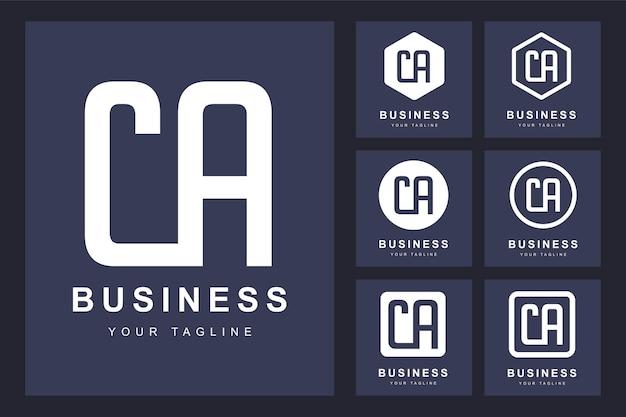 Satz abstrakte anfangsbuchstaben ca, logo-vorlage.