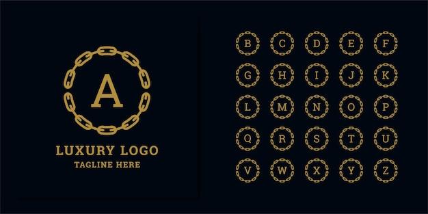 Satz abstrakte anfangsbuchstabenlogo-entwurfsschablone. ikonen für luxusgeschäfte