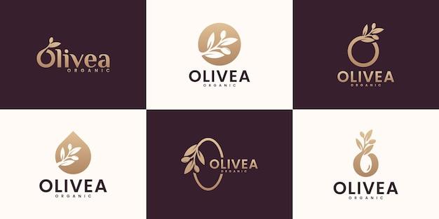 Satz abstrakte blumenrose-logo-designschablone