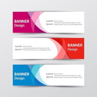 Satz abstrakte design-banner-webschablone. illustration