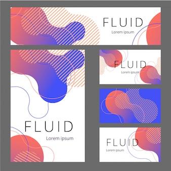 Satz abstrakte design-markenidentität. weiße briefpapier-set-artikel für markenidentität und logo-präsentation