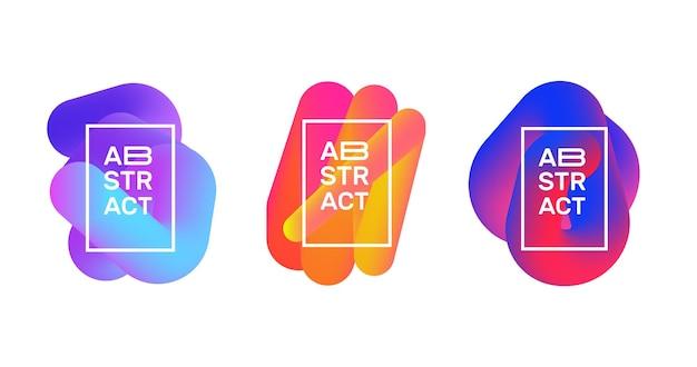 Satz abstrakte flüssige gradientenformen. logoelemente. futuristische banner-vektor-design.