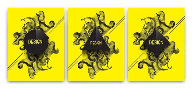 Satz abstrakte grafische geometrische illustration für banner