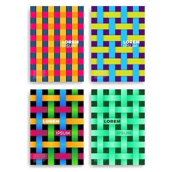 Satz abstrakte karten mit schichten-überschneidung. anwendbar für abdeckungen, plakate, plakate, flieger und fahnen-entwürfe.